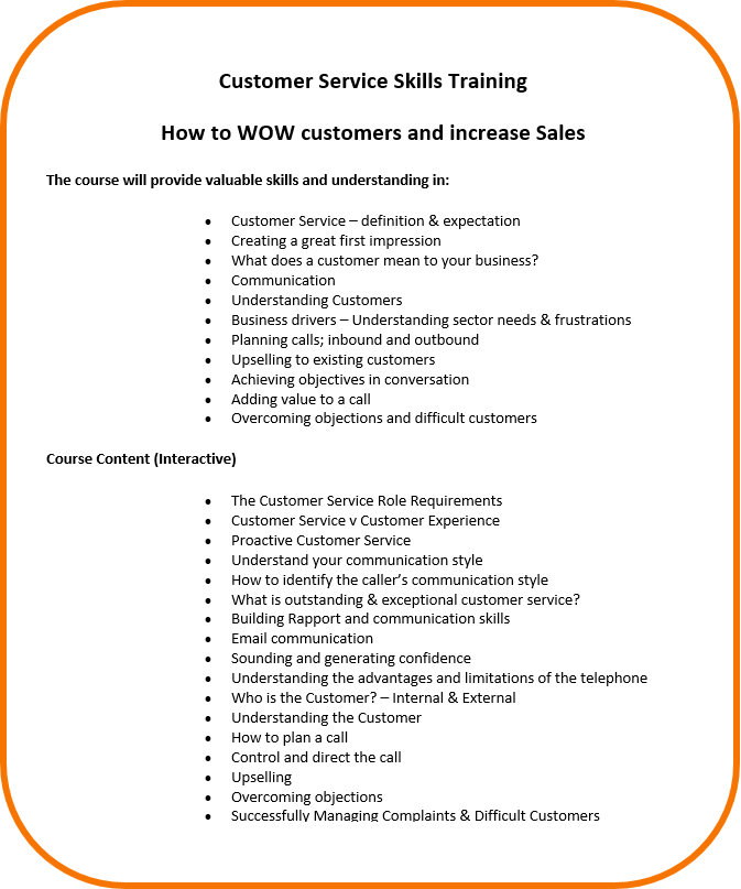 Customer Care to Increase Sales